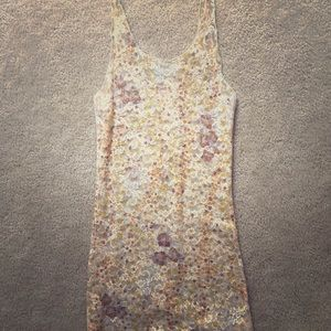 Free People stretchy sheer lace Floral tank top M